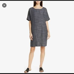 NWT Eileen Fisher Stripe Bateau Dress Sz. XL